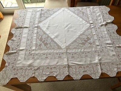 Antique Lace and Embroidered Linen Table clothes