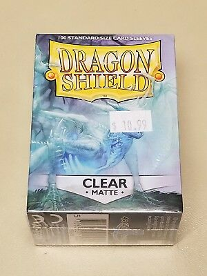 Dragonshield Protective Card Sleeves 100 Sleeves per Box Matte Clear