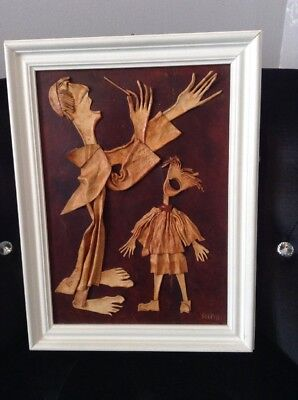 Framed Art Using Leather By Scipio?