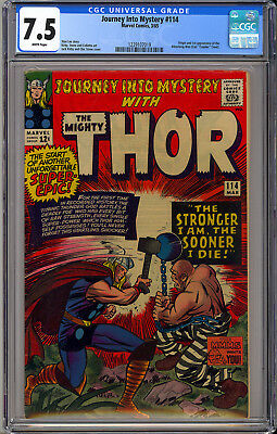 Journey into Mystery #114 High Grade Silver Age Thor Marvel Comics 1965 CGC 7.5