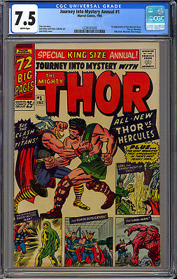 Journey into Mystery Annual #1 High Grade Thor Marvel Giant Comic 1965 CGC 7.5