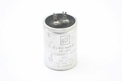 ELECTROLYTIC CAPACITOR ROE 2200uF 16V NOS ( New Old Stock ).1PC. CA34U1F100915