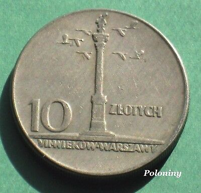 Old Coin Of Poland - Vii Centuries Of Warsaw - Statue Of King Zygmunt Waza