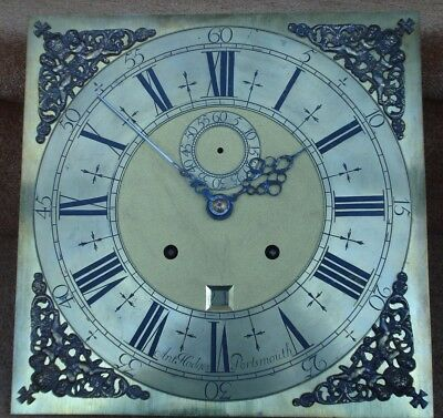 Fine Late 17Th C Month  Longcase Clock Movement Formerly 1/4 Repeat On 3 Bells
