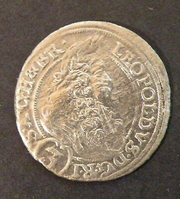 Post Medieval Europe Coin Leopoldus Silver 1696 Poland 3 Antique Lot Colonial