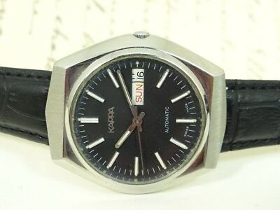Vintage Kappa Automatic Day And Date Men's Wrist Watch Swiss Made