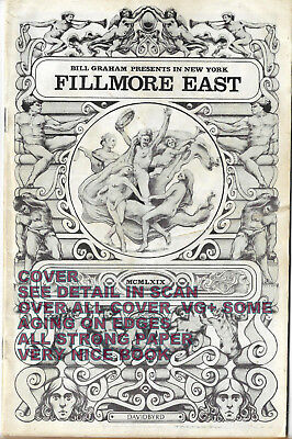 LED ZEPPELIN FILLMORE EAST 1969 PROGRAM 28 Pgs. GREAT ADS THE WHO,WINTER,NEWPORT
