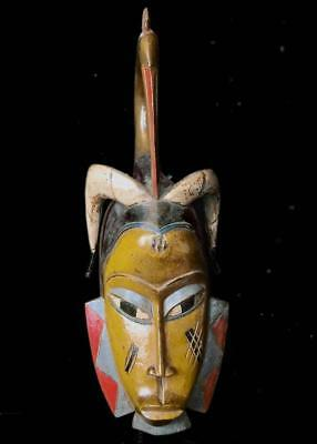 Old Tribal Guro Mask    --- Coted'Ivoire   BN U