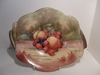 Royal Winton Hand Painted Fruit Pattern Large Art Deco Fin Shape Bowl E Harper