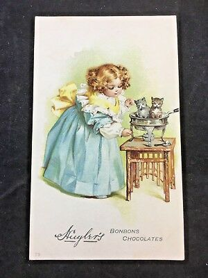 Huyler's BonBons Chocolates Cocoa Victorian Trade Card (B32)