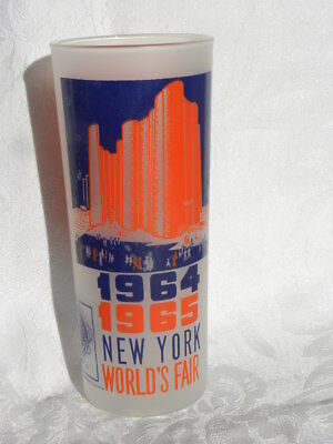 Vintage 1964/1965 New York World's Fair Frosted Drinking Glass or Tumbler