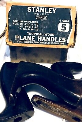 VINTAGE Stanley Plane Handle TOTES Tote Antique NEW OLD STOCK box USA 3 HANDLES