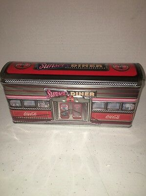 2002 Coca-Cola Retro Sunset Diner Tin - New In Plastic Collectible
