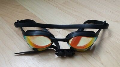 Arena Cobra Ultra Mirror Goggles - Black / Yellow - Brand New (No Box)