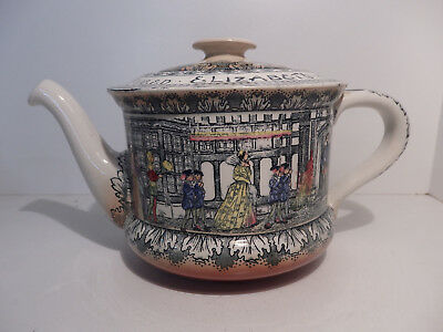 Royal Doulton Queen Elizabeth at Old Moreton Hall Teapot circa 1920
