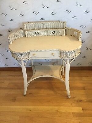 Beautiful Antique Wicker Library Table Desk