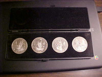 Russia 4 Piece Medal Set, Proof, Different Sailing Ships