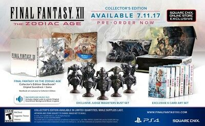 In hand Final Fantasy XII 12 The Zodiac Age Collector's Edition Sony PS4