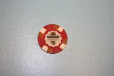 Showboat Atlantic City 5$ casino chip