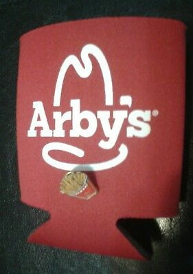 Arby's Arbys Can Bottle Drink Cup Beverage Koozie Coozie Koozy Coozy & FRY PIN ~