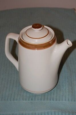"BROWN Monterrey Stoneware by MSI MADE IN JAPAN~8 3/4"" TEA /COFFEE POT~VG COND--"