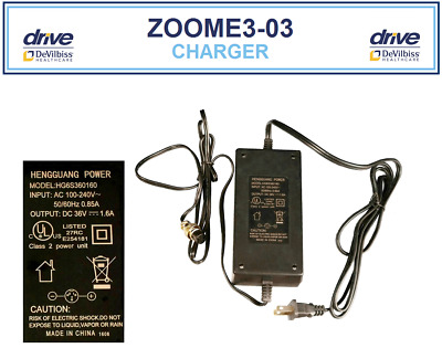 Charger 36 Volt ZooMe 3-Wheel Recreational Scooter DeVilbiss Healthcare