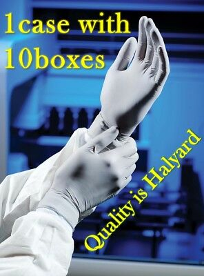 Pro quality nitrile Halyard gloves 50707 Medium Kimberly clark case nail hair