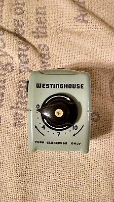 Vintage Westinghouse Electric Portable Fan Timer with Side Outlet Model FT-1