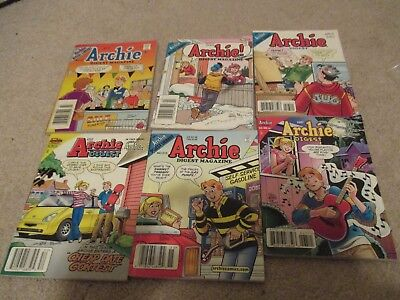 Lot of 6 Archie Digests, Archie Digests, 215 and 252 Included