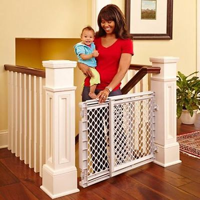 Stair Safety Gate Baby Pet Stairs Child Dog Fence Door Toddler Tall Plastic