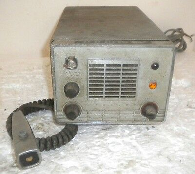 Johnson Messenger Tube CB Ham Radio + Mic ~ # 242-128 ~ Sold For Parts ~ Unit #1