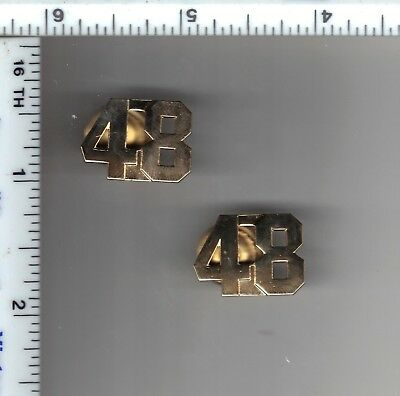72nd Precinct Police Collar Brass Set from the New York City//New Jersey Area