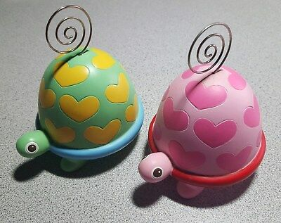 Two cute turtles for your Easter basket pastel colors, holds photo
