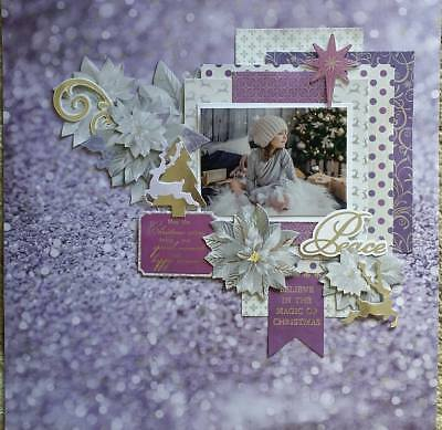 handmade premade scrapbook page layout 12 X 12 - Peace
