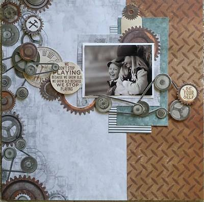 handmade premade scrapbook page layout 12 X 12 - Be Yourself