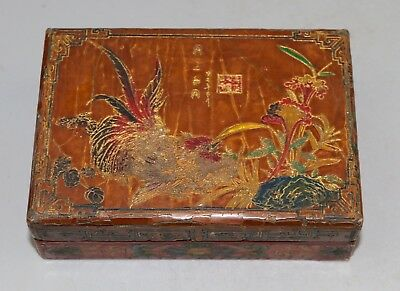 Chinese Carved lacquerware box