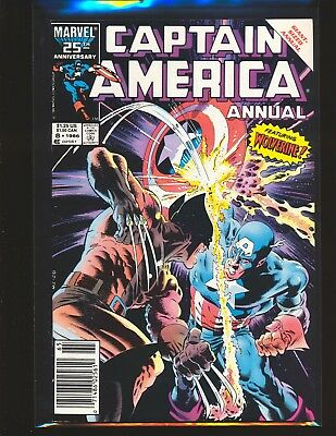 Captain America Annual # 8 - classic Mike Zeck Wolverine cover VF Cond.