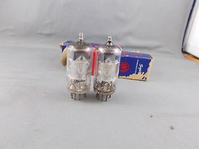 Tubes x 2   EF86  Telefunken Germany with <> mark on base.  Strong pair