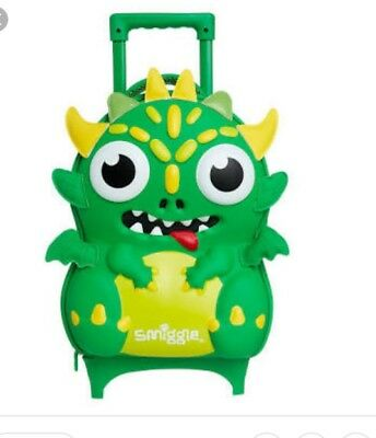 SMIGGLE Little Monster Hardtop Trolley School Bag 35x35x20cm $69.99 BRAND NEW