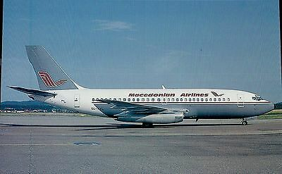 B1299mdt Transport Macedonian Airlines Boeing 737 Aircraft postcard