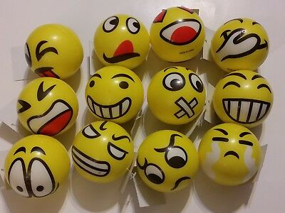Yellow Emoji/Emoticon Stress Ball, Pick from 12 Different Styles of Funny Faces