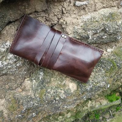 Leather Watch Case Handmade Travel Holder Vintage Pouch Bag Roll 2 Slots