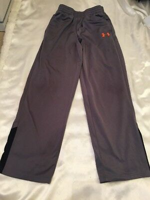 Boy's UNDER ARMOUR Size Medium (YMD) Loose Fit Gray & Orange Activeware Pants