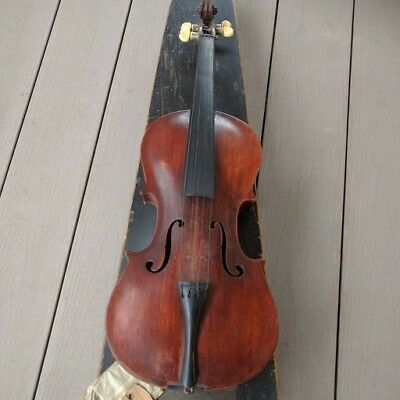 Antique Old Vintage Jacobus Stainer 1736, 4/4 Full Violin w/coffin GSB wood case