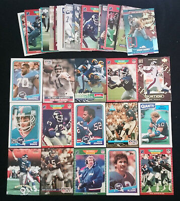 73 x New York Giants NFL Football Cards 1986 - 2004 Bulk Lot Assorted