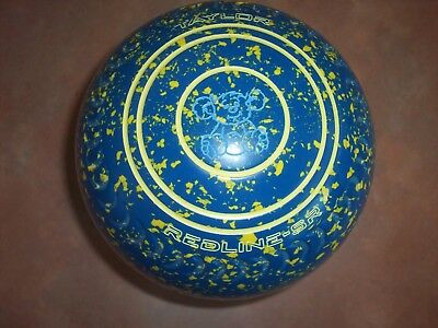 Thomas Taylor REDLINE SR Lawn Bowls Size 2H WB21 Gripped Blue/Yellow Speckled