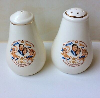 Vintage Prince Charles and Princess Diana First Born Salt and pepper Shakers