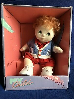 Red Haired, Green Eyed Boy My Child Doll New In Box