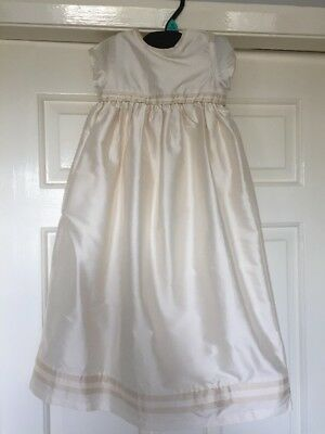 Mothercare, Ivory 100% Silk Christening Gown /Special Occasion Age 0-6 Months