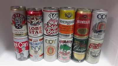 12 Aluminium Beer Cans from Various Breweries in USA